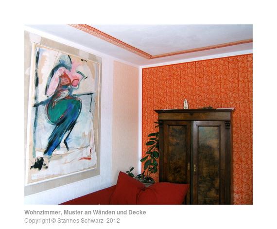 Wohnzimmer Muster An Wnden Und Decke