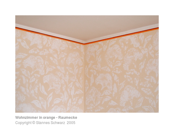 wohnzimmer in orange raumecke ornamente stannes schwarz. Black Bedroom Furniture Sets. Home Design Ideas